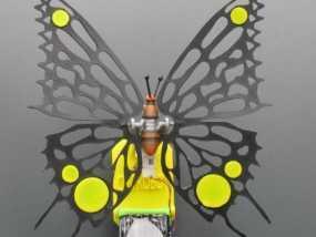 太阳能仿生蝴蝶 3D模型