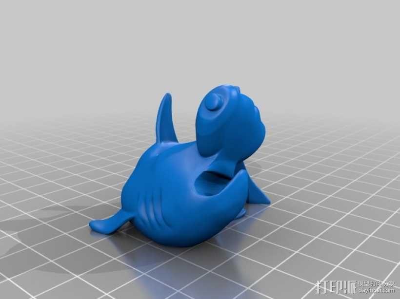 小鲨鱼 线缆夹 3D模型  图5