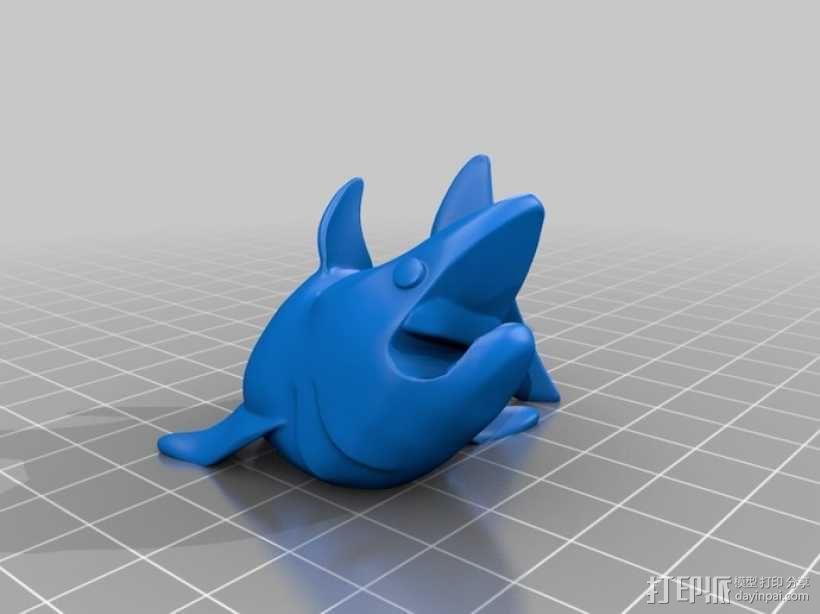 小鲨鱼 线缆夹 3D模型  图7