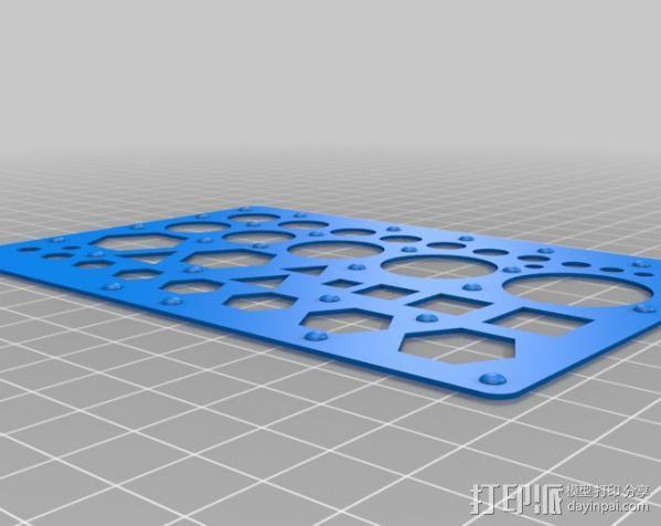 漏字板 3D模型  图2
