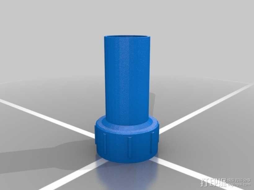 加仑罐引管 3D模型  图2