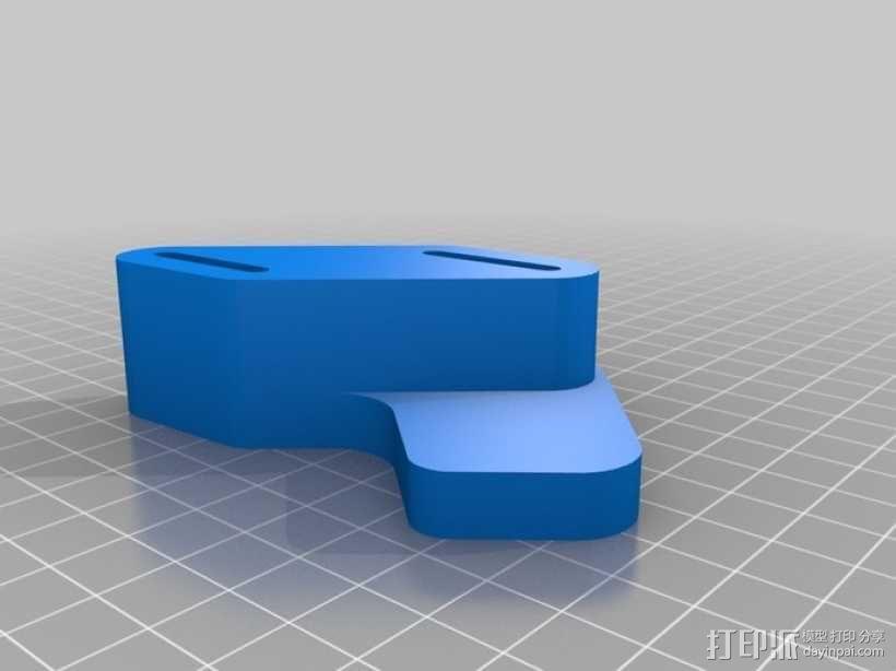 可调节的自行车车链引导装置 3D模型  图2