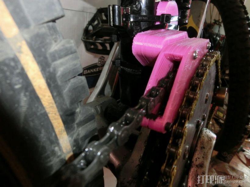 可调节的自行车车链引导装置 3D模型  图1