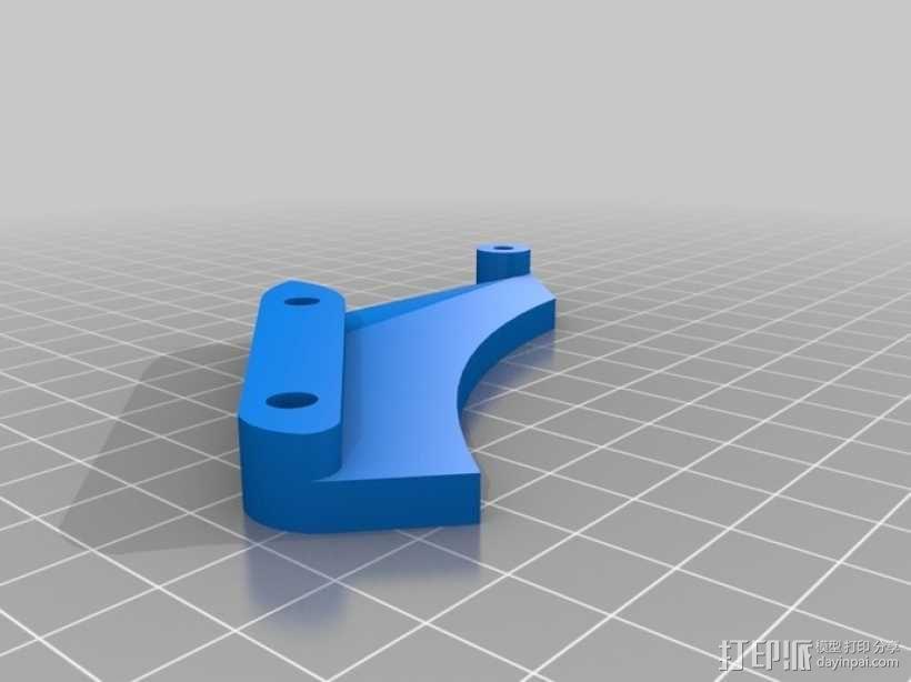 可调节的自行车车链引导装置 3D模型  图5