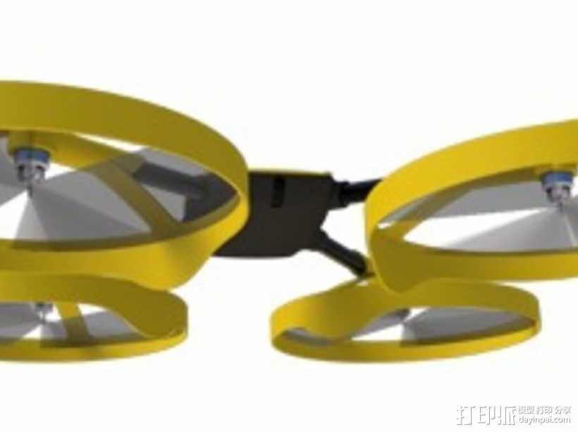 四轴飞行器零部件 3D模型  图10