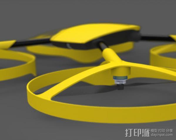 四轴飞行器零部件 3D模型  图9