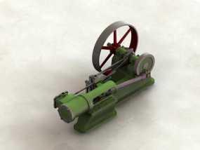 蒸汽机 3D模型
