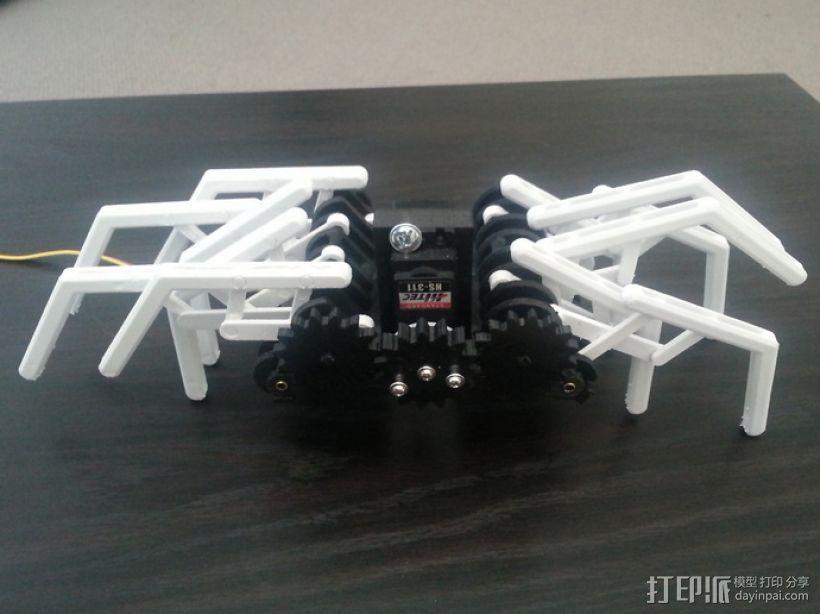 蜘蛛机器人 Spidrack 3D模型  图1