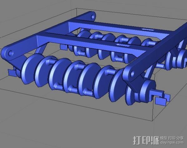 蜘蛛机器人 Spidrack 3D模型  图5