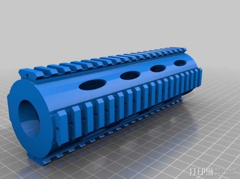 皮卡汀尼导轨 护木 3D模型  图3