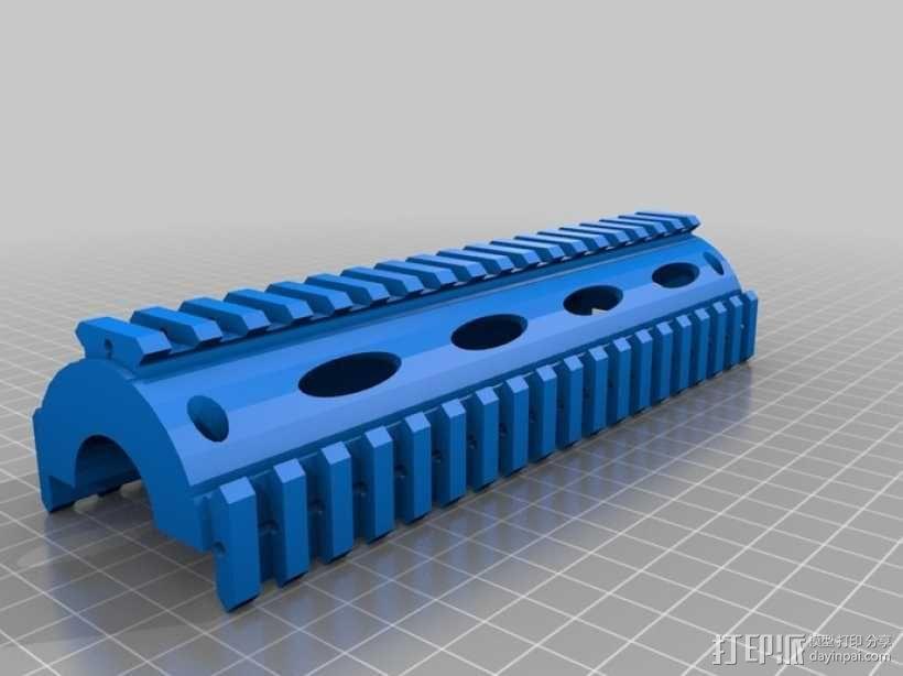 皮卡汀尼导轨 护木 3D模型  图4
