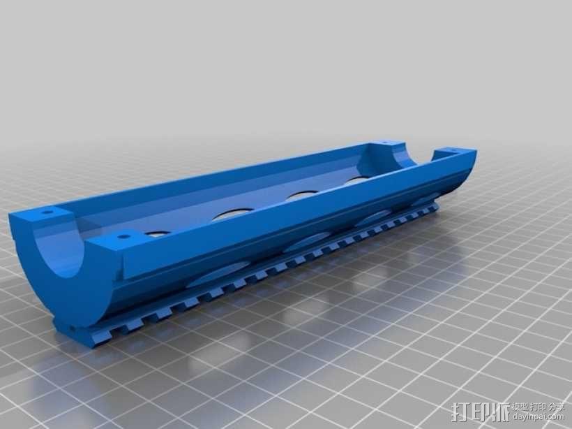 皮卡汀尼导轨 护木 3D模型  图5