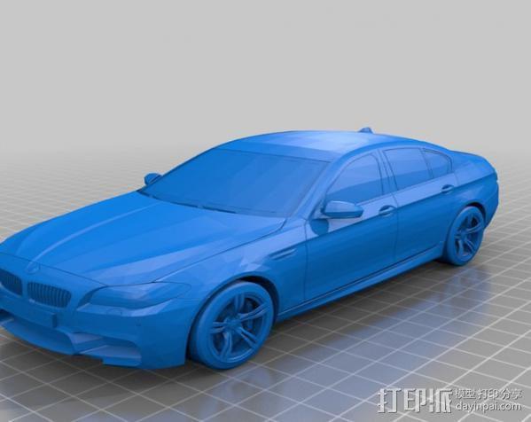 宝马M5轿车 3D模型  图2