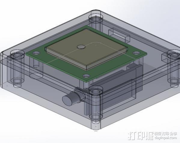 GPS和无线电小盒 3D模型  图4