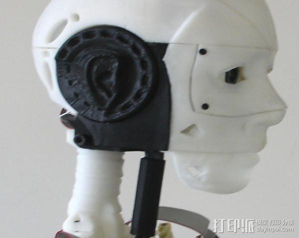 InMoov机器人耳部 3D模型  图4