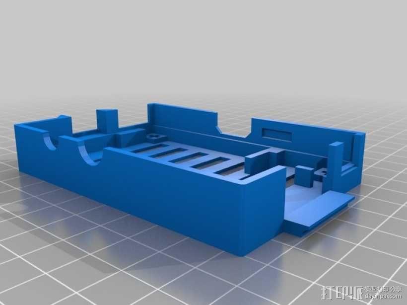 树莓派保护壳 3D模型  图2
