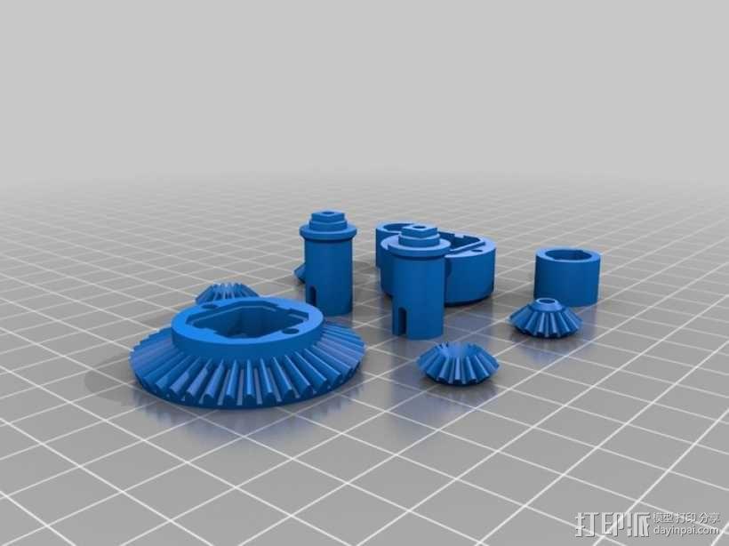 1:10差速器 3D模型  图3