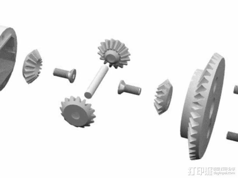 1:10差速器 3D模型  图5
