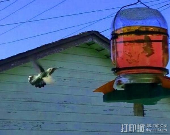 蜂鸟喂食器 3D模型  图2