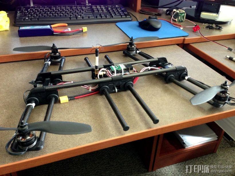 多轴飞行器框架 3D模型  图1