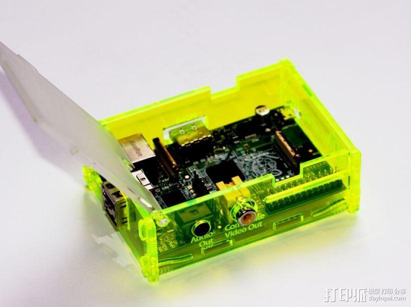 Adafruit树莓派外壳 3D模型  图1