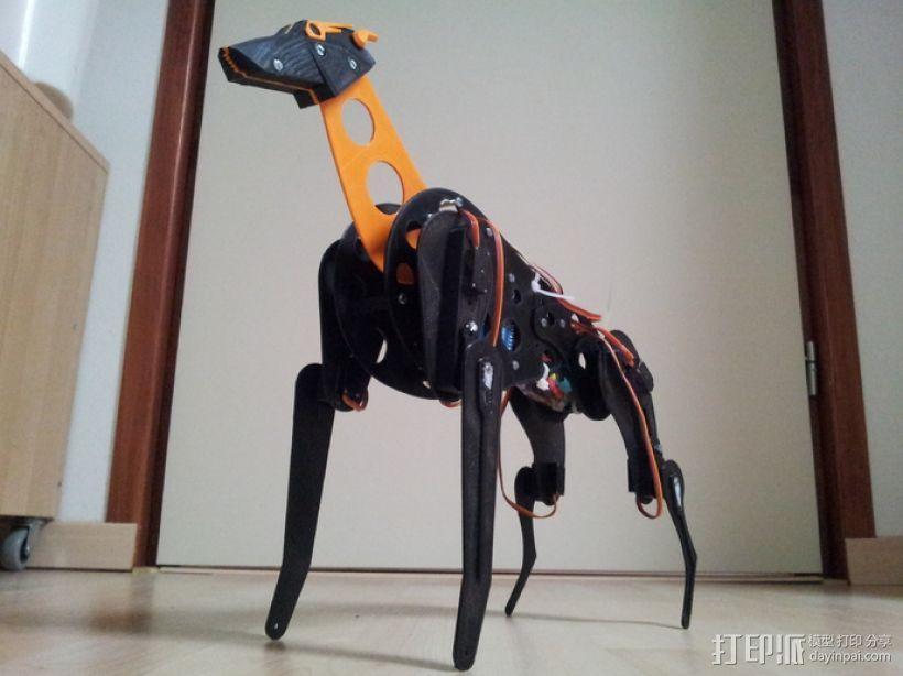 机械狗 3D模型  图1