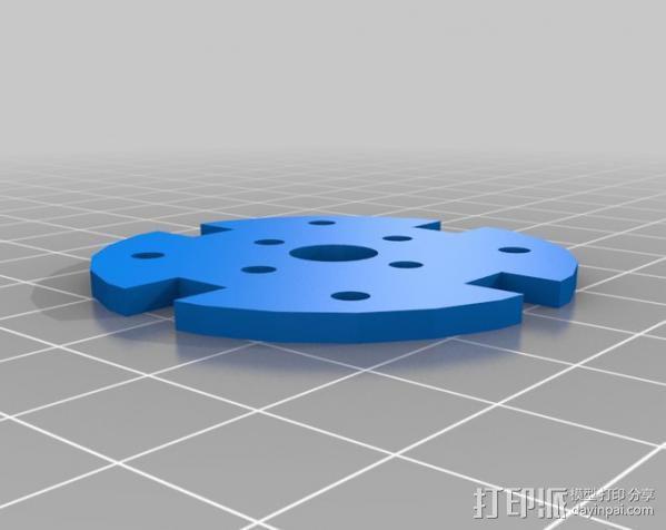 遥控飞机发动机架  3D模型  图3
