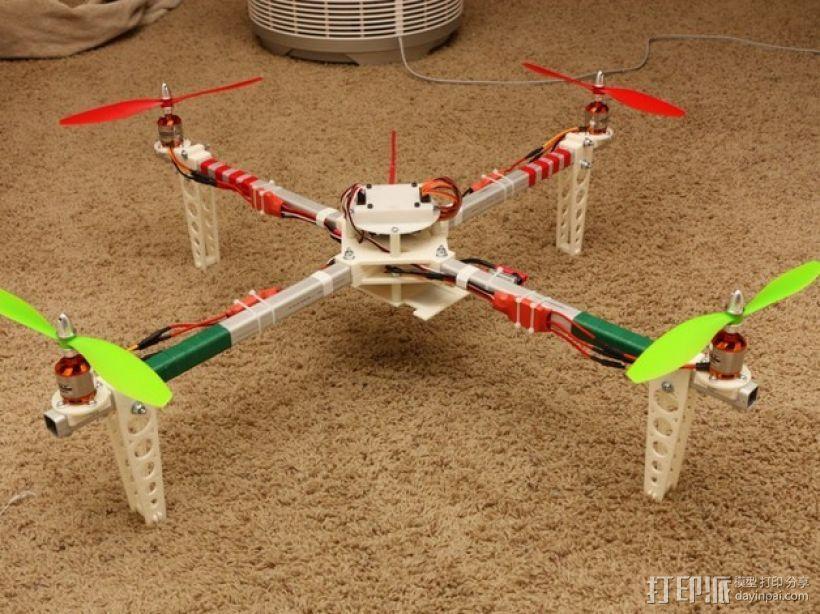 四轴飞行器 方形管 3D模型  图1