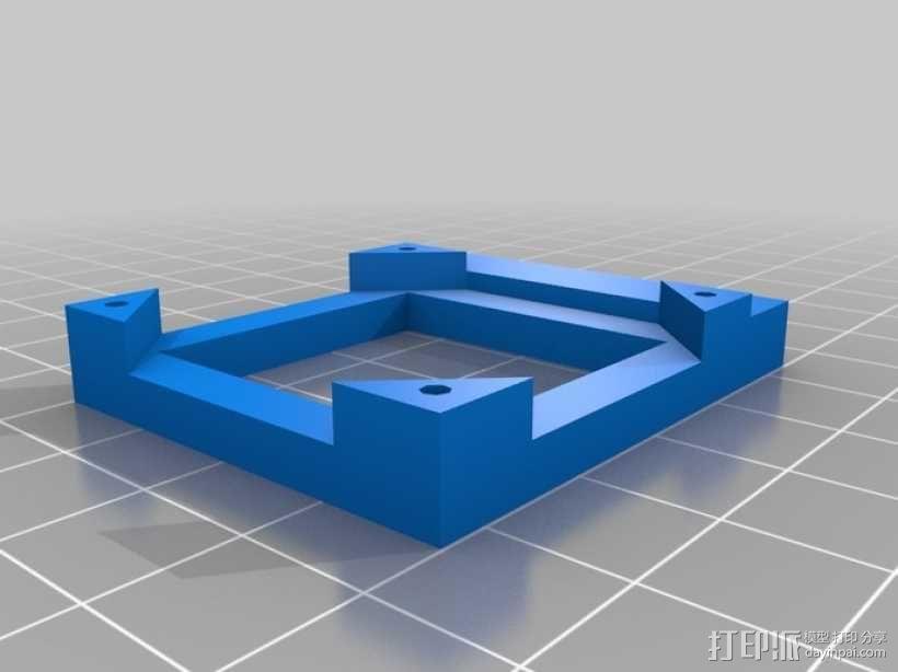 四轴飞行器 方形管 3D模型  图3