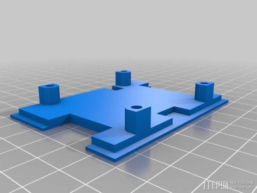 四轴飞行器 方形管 3D模型  图6