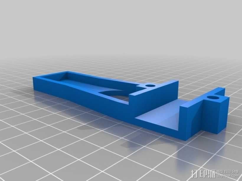 四轴飞行器 方形管 3D模型  图4