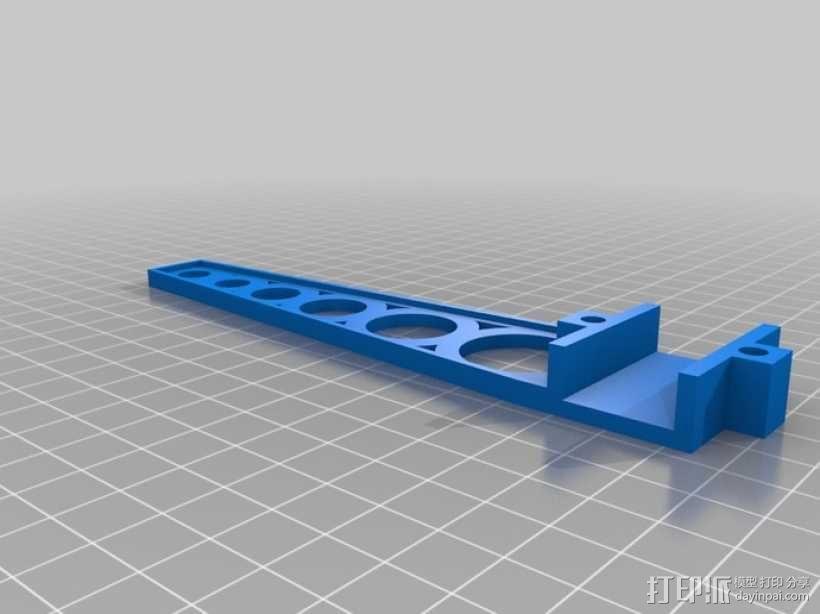 四轴飞行器 方形管 3D模型  图9