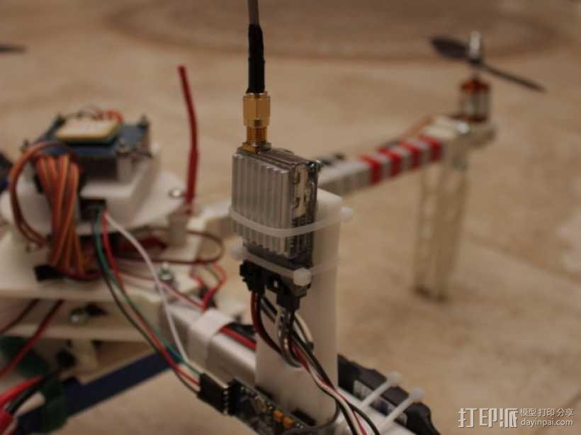 四轴飞行器 方形管 3D模型  图19