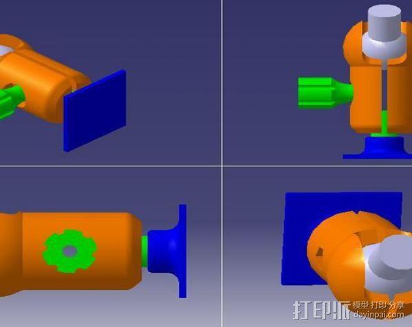 GoPro相机固定架 球形接头  3D模型  图2