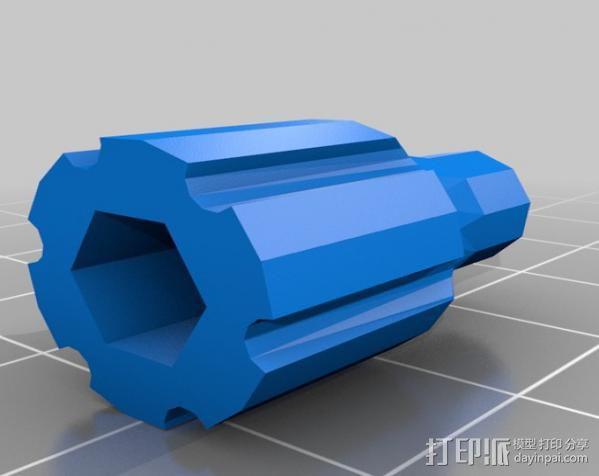 GoPro相机固定架 球形接头  3D模型  图5