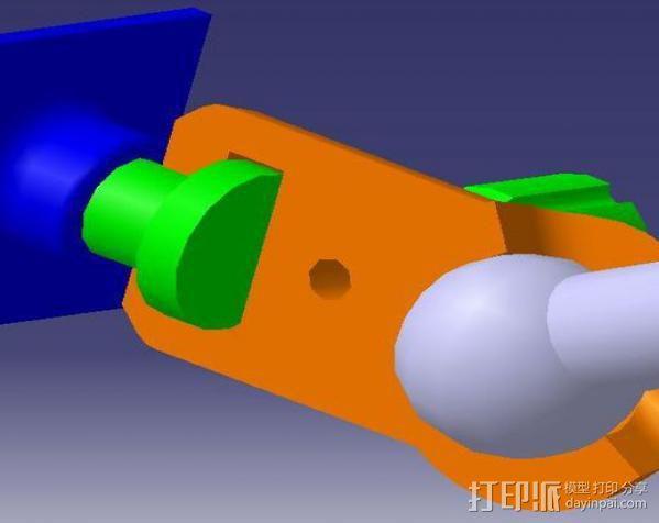 GoPro相机固定架 球形接头  3D模型  图3