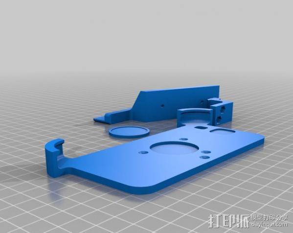 车载三星Galaxy S3手机架 3D模型  图1