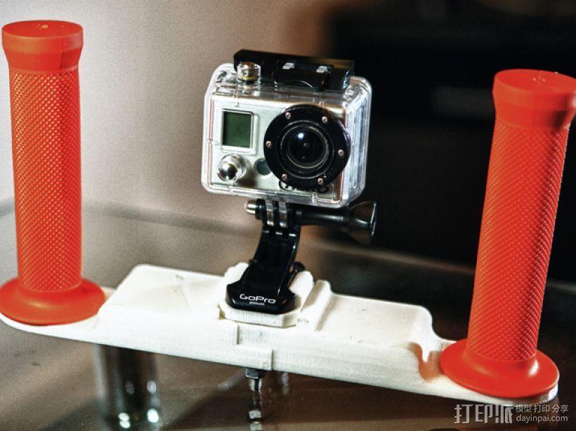 潜水GoPro相机手柄 3D模型  图1