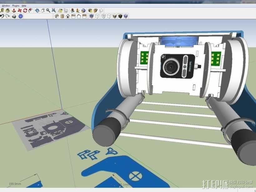 OpenROV水下机器人 3D模型  图2