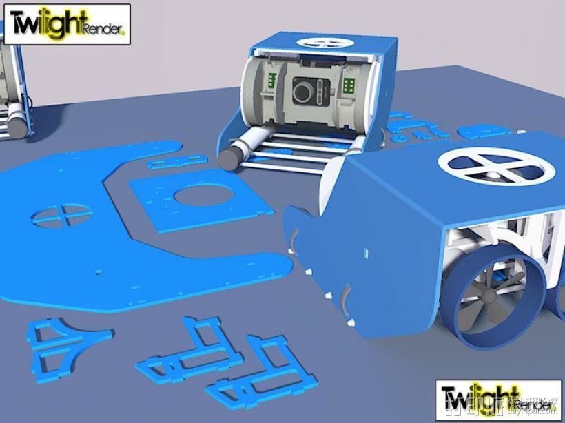 OpenROV水下机器人 3D模型  图27