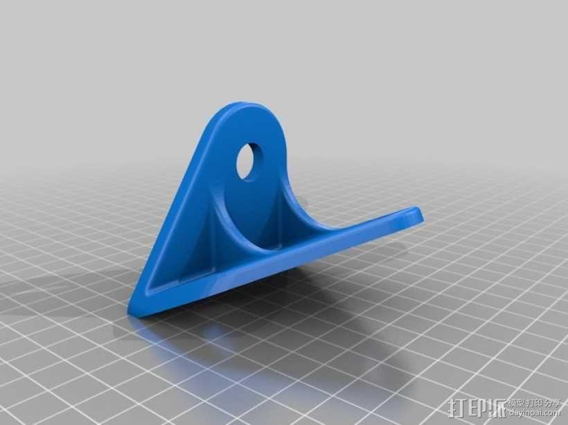 吉普车挡风玻璃雨刷支架 3D模型  图1