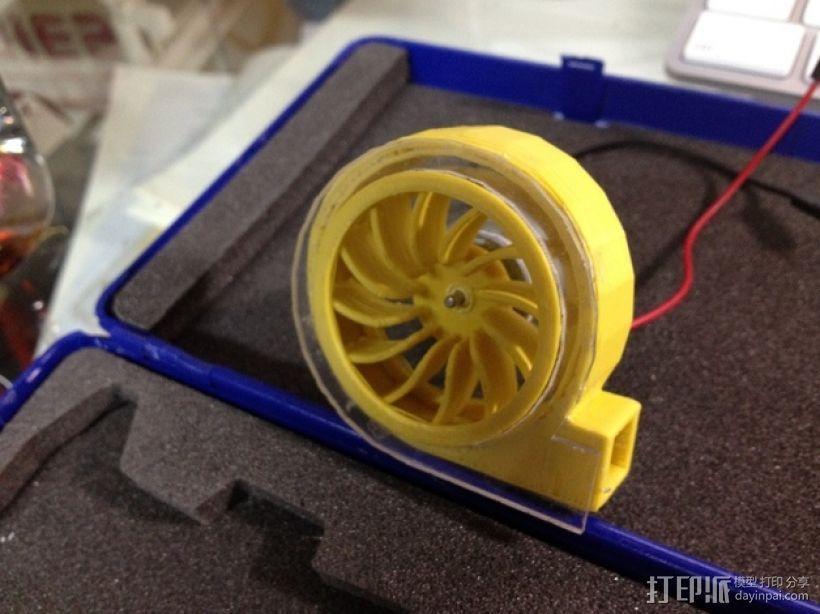径流式风扇扇套 3D模型  图1