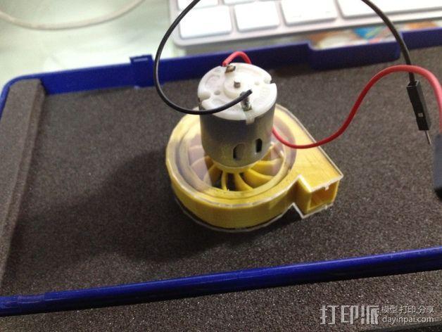 径流式风扇扇套 3D模型  图3