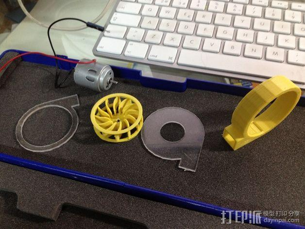 径流式风扇扇套 3D模型  图2