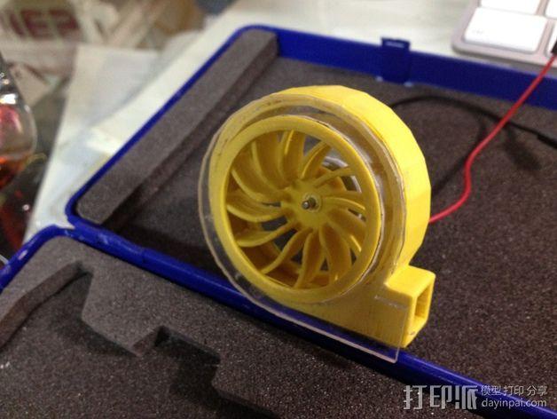 径流式风扇扇套 3D模型  图4