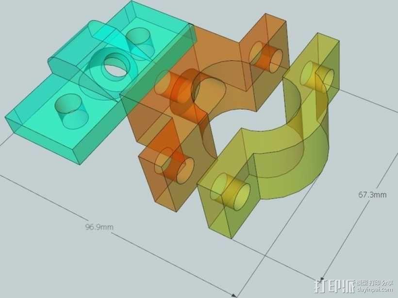雷达检测器支架 3D模型  图8