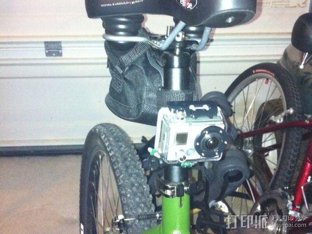 GoPro相机座杆支架 3D模型  图2