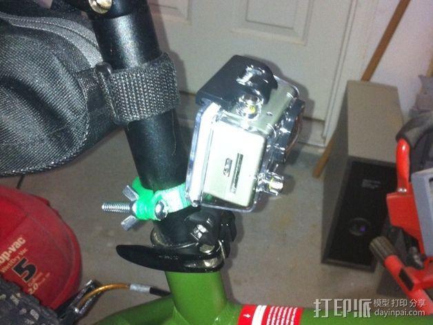 GoPro相机座杆支架 3D模型  图3