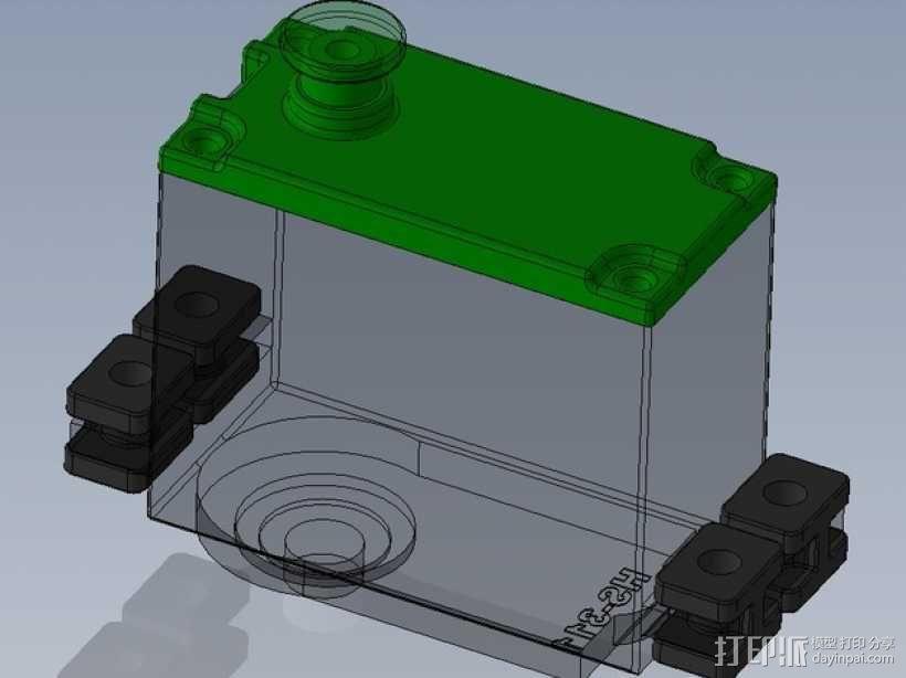 伺服器下端盖 3D模型  图1