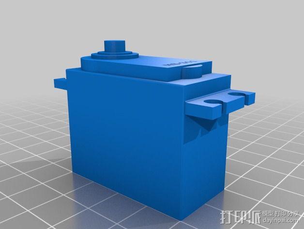 伺服器下端盖 3D模型  图2